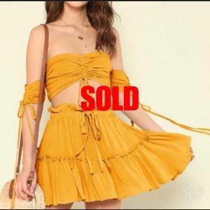 Dresses & Skirts - Mustard off shoulder set